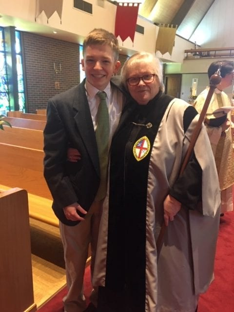 youth sunday rose ann and alex rotated - St. Philip's Episcopal Church