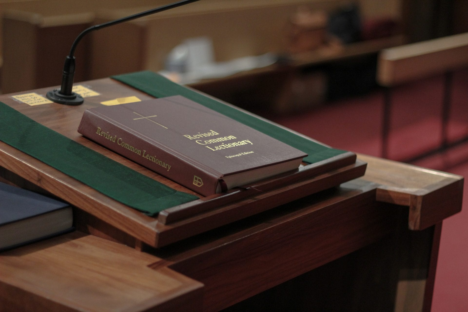 Book on lectern